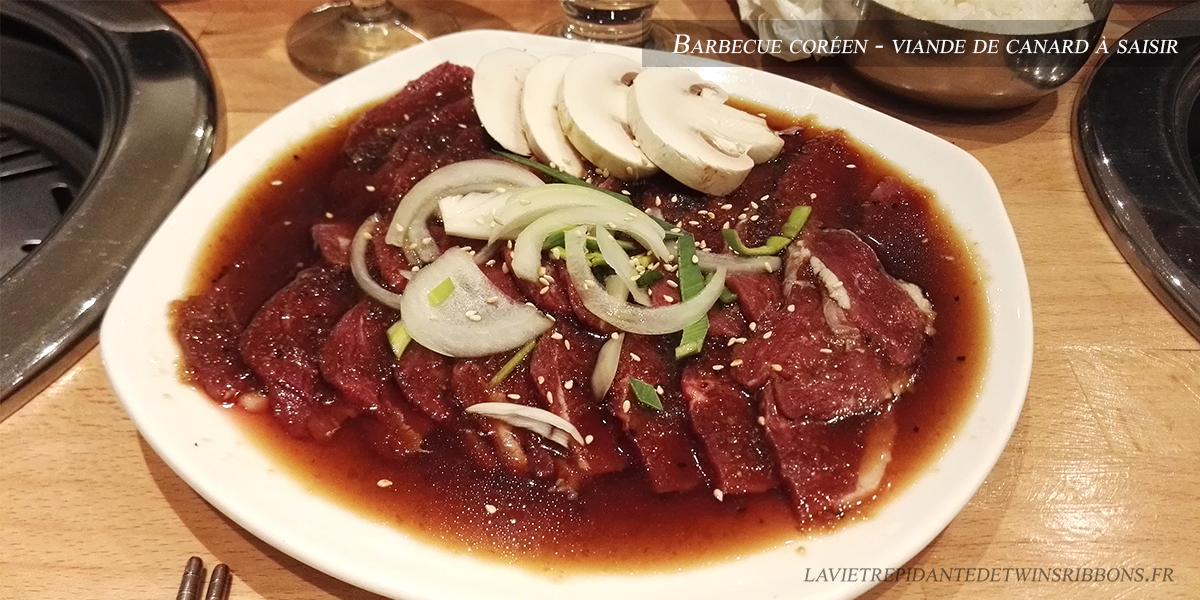 J'ai testé pour vous : le barbecue coréen canard – Ginro – Villejuif