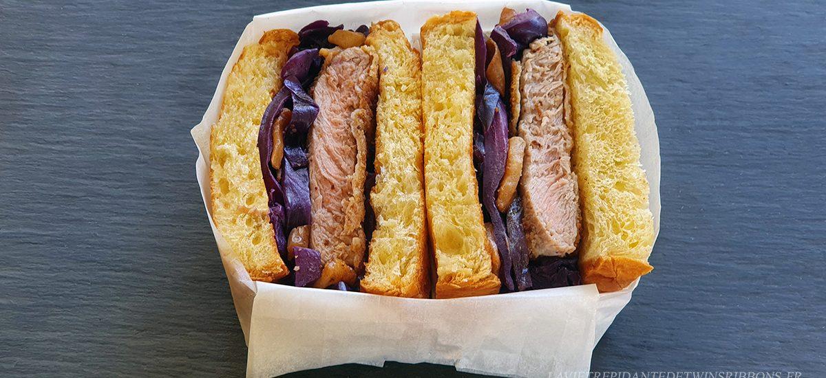 club sandwich pontoisien - veau pané et chou braisé aux pommes