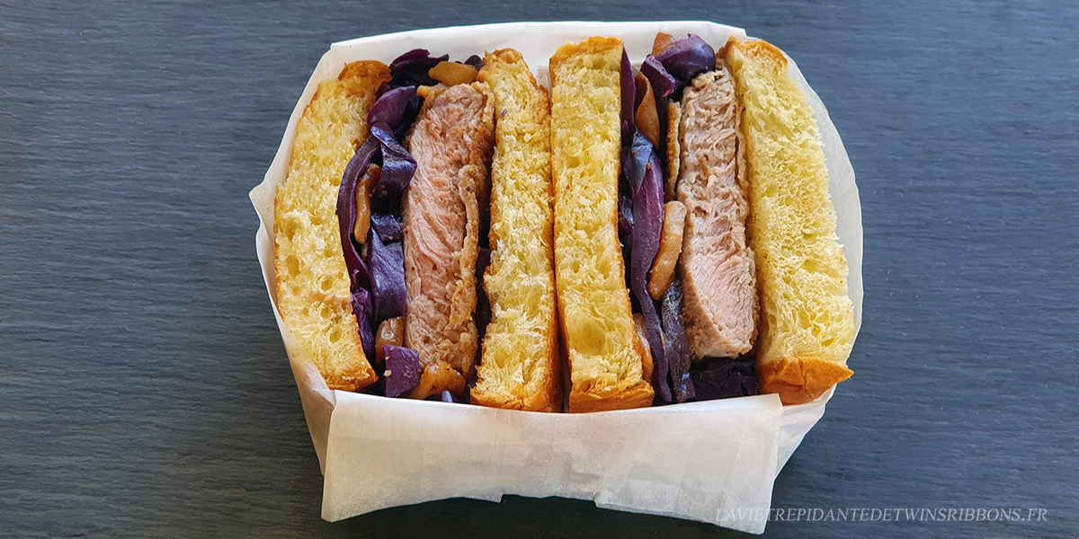 club sandwich pontoisien – veau pané et chou braisé aux pommes