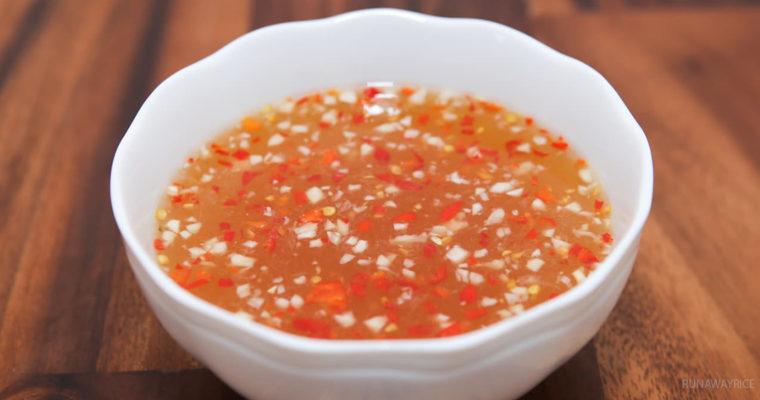 sauce nuoc mam pha – sauce nem – 春卷酱