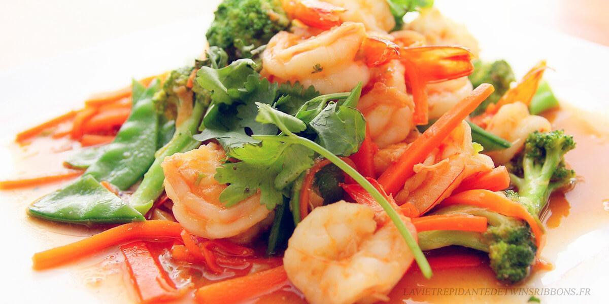 crevettes sauce piquante -酸辣虾