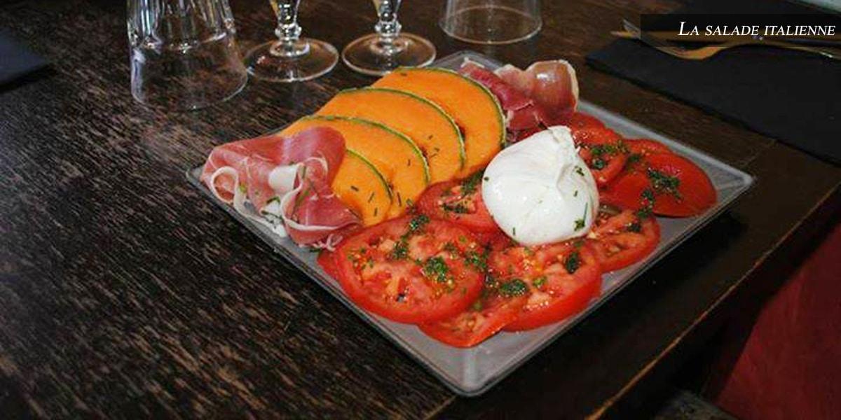 salade italienne - farandole desserts- restaurant l'affiche