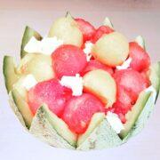 Salade de melon pastèque feta