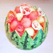 Salade de pastèque melon jambon ibérique