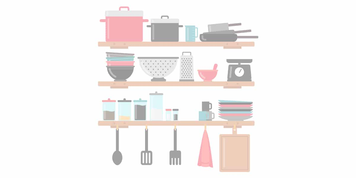Le nécessaire pour la cuisine d'un studio