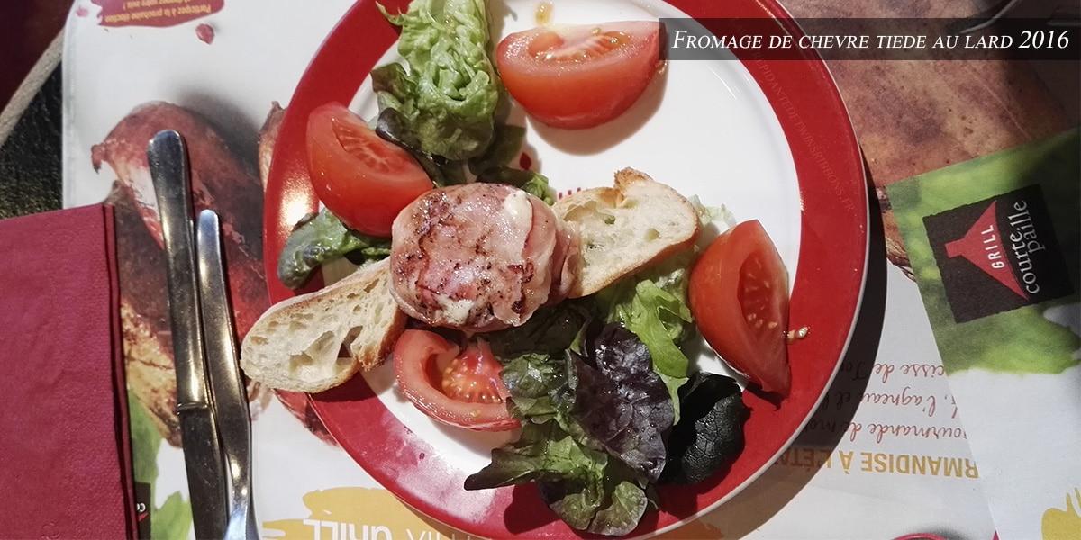 Fromage tiede au lard - courtepaille 2016