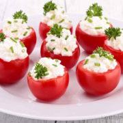 Tomates cerises farcies au fromage