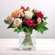 Bouquet de grandes roses