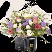 Bouquet Nuage de tendresse et sa bougie parfumée