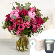 Bouquet Praline XL et sa bougie