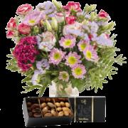 Bouquet Tendre bisou et ses amandes au chocolat