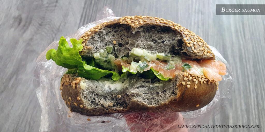 Burger saumon - Au pain de Pontoise