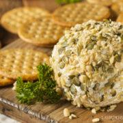 cheeseball graine de courge et pignon de pin