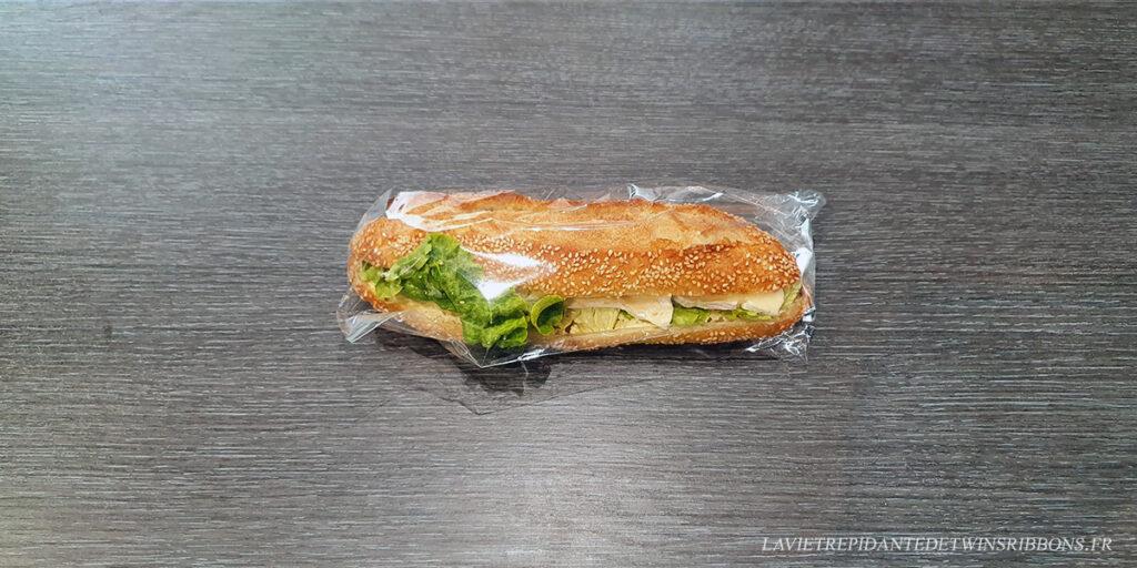 Sandwich camembert crudité - boulangerie Folet - pontoise