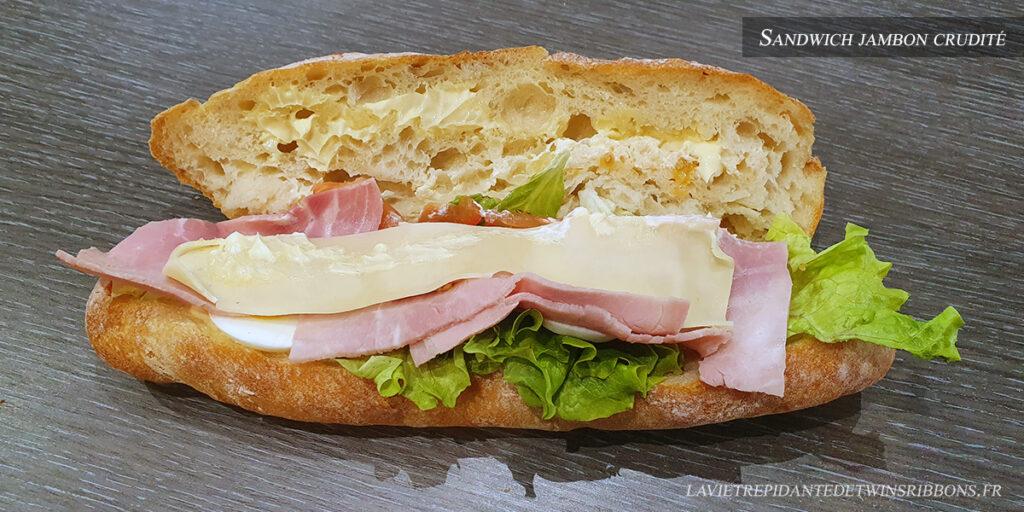 Sandwich jambon crudité - boulangerie Folet