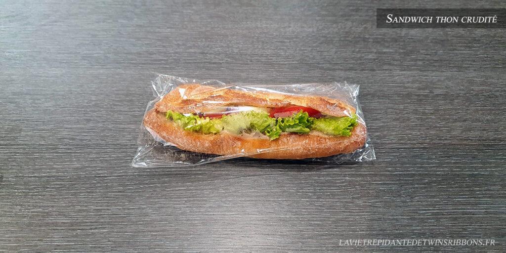 Sandwich thon crudité - boulangerie Folet