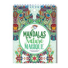 Livre coloriage mandala nature magique